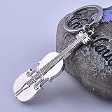Yarmy Schlüsselanhänger glänzend Gitarre Schlüsselanhänger Musik Geige Schlüsselanhänger Wesentliches Werkzeug für den Schlüssel