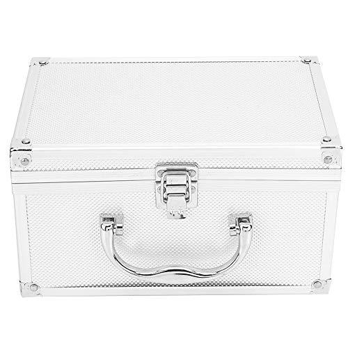 Caja de herramientas de aleación de aluminio de 230 * 150 * 125 mm, caja de exhibición portátil, caja de instrumentación, caja de almacenamiento de herramientas, organizador de acero inoxidable