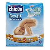Chicco DryFit - Pack de 17 pañales ultra absorbentes, talla 5, 12-25 Kg
