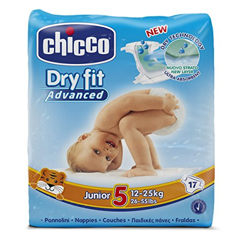 Chicco Dry Fit Advanced Set von 17 Windeln Junior Größe 5