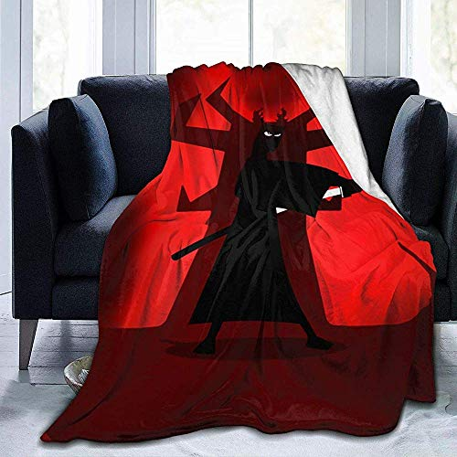 Not Applicable Jeter La Couverture Samurai Jack Bed Ultra-Soft Fleece Blanket Adults Couch Throw Blanket Boy Warm 3 Size Kids All Season Teen Girl 127X102cm