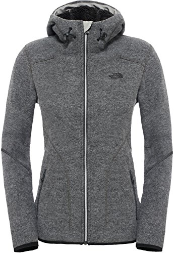 The North Face Damen W Zermatt Full Zip Hoodie Pullover-Jacke, Mehrfarbig-Medium Grey Heather, XS
