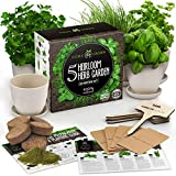 Indoor Herb Garden Starter Kit - 5 Herb Seeds Gardening Kit with Bamboo Planting...