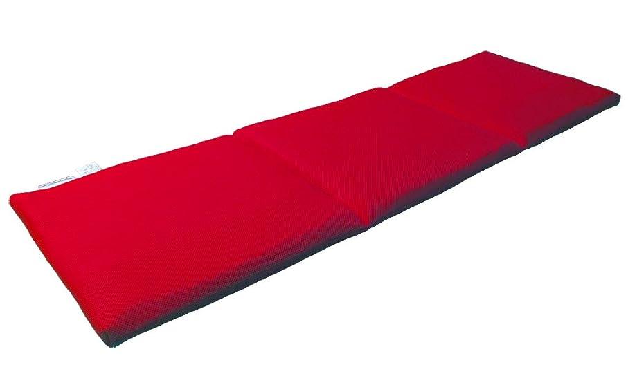 眠り姫 高弾発 パラレーヴTM マルチ ごろ寝 マット レッド 座布団 45×140cm 日本製