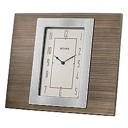 Bulova B1237 Brockton Tabletop Clock, Brown