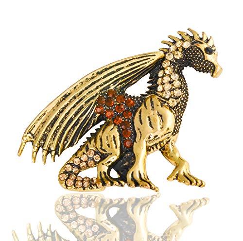 BaiXing Europa y América del Diamante de los Dinosaurios en Tres Dimensiones de la Personalidad-aleación Broche de joyería Collar de Pecho capítulo dragón Volador Ramillete Broche de Regalo del día