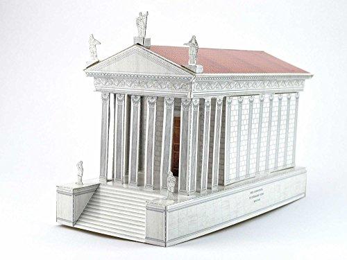 Bastelvorlage Römischer Tempel - Maison Carrée in Nîmes - Forum Traiani - Archäologische Museum Repliken - Imperium der Römer