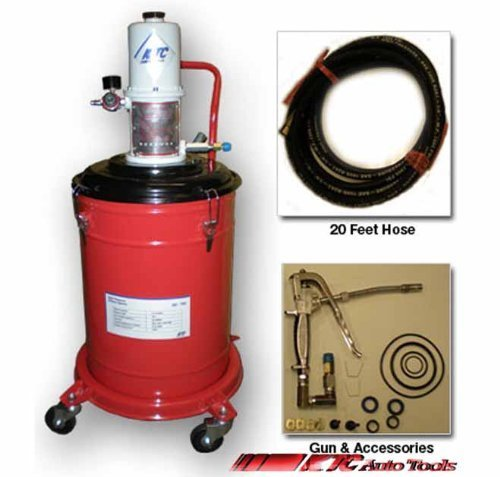 5 Gallons Air Operated High Pressure Grease Pump (20ft Long Hose)