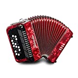M-zutx 8 accordéons de base d'entrée de gamme for enfants de 22 touches 2 rangées de ressorts 4 rangées de boutons de sonorité Accordéon Enfants Adultes Débutants Accordéons Instrument Accessoires Com
