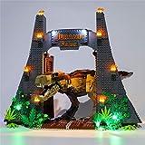 FADF LED Kit de dÉclairage pour Lego Jurassic World, LED Lumières Kit Compatible avec Lego 75936 (Lego Modèle Pas Incluse)