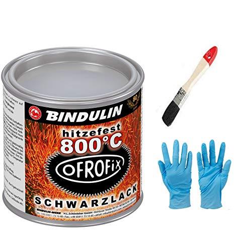 Ofrofix 800°C 250 ml Dose Farbe: schwarz inkl.1 Pinsel zum Auftragen von E-Com24