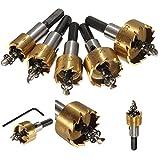 16-30mm HSSドリルビット ホールソーセット 5本セット プラスティック 鉄 アルミ ステンレス スチロール等