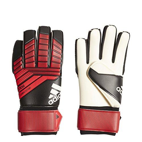 adidas F1806GL016 Predator Soccer Gloves, Black/Red/White, Size 6