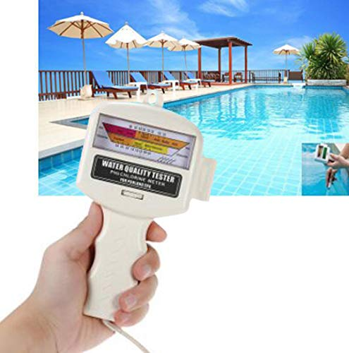 KKmoon PH Chlor Messgerät 2 in 1 PH-Wassertester Chlormessgerät Chlorwasser Qualitätsprüfgerät CL2 Messung für Pool Aquarium Spa Schwimmbad