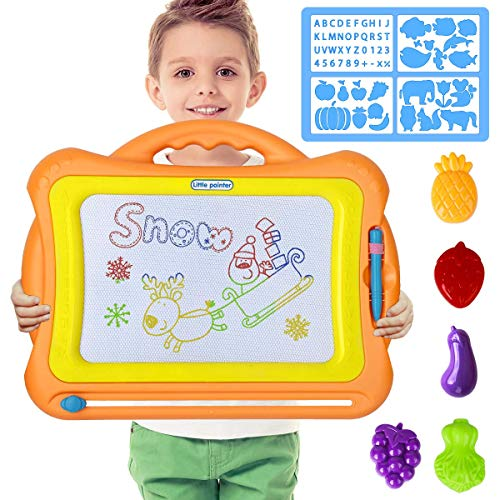 LOYO Magnetic Drawing Board - Magna Doodle Scribble Board Erasable Colorful Sketch Pad Learning Toys for Kids Toddlers