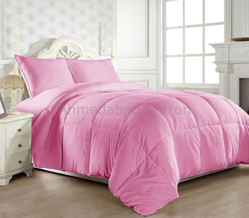 HUESLAND by Ahmedabad Cotton Double Comforter, Pink