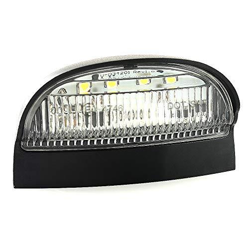 1 x Universal LED Kennzeichenbeleuchtung Wasserdicht 12V-24V für LKW Anhänger Motorrad mit E-Prüfzeichen V-030073