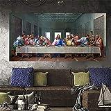 wZUN Mural Cristianismo decoración última Cena Pintura Mural Lienzo Mural Sala de Estar decoración del hogar 50x100 cm