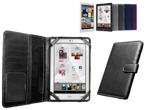 Navitech MiTAB Custodia nera in pelle Bycast per il New Kobo Arc 7' pollici Android E-reader Tablet