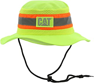 Men's Safety Safari Cap, Highvis Yellow, One