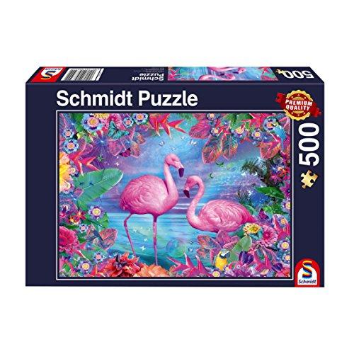 Schmidt Spiele 58342 Puzzle Flamingos 500 Teile