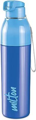 Milton Steel Convey Insulated Inner Steel Water Bottle, 630 ml, Blue