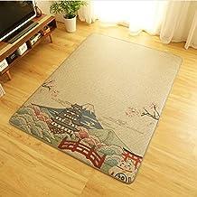 DENGLEI Carpet Infant Shining Rattan Living Room Thickness Tatami Mat Non-Slip Baby Play Mat HD Printing Rug B