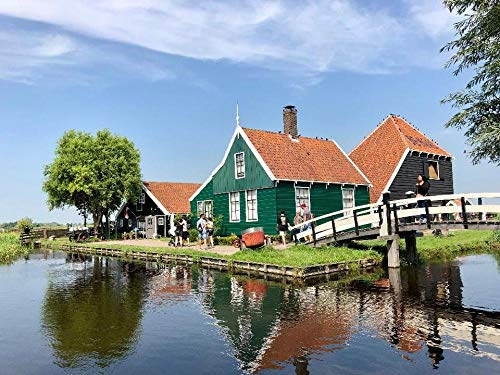 Puzzle per Adulti 1000 Pezzi Bellissimo Paesaggio in Olanda Settentrionale, Olanda per Un Amico Regalo di Compleanno per Bambini