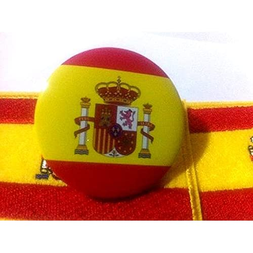 PIN CHAPA con IMPERDIBLE CON BANDERA Y ESCUDO ESPAÑA SPAIN: Amazon ...