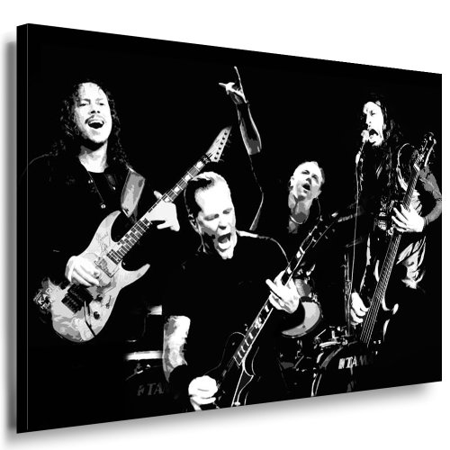 "Kunstdruck""Metallica - James Hetfield"" / Bild 100x70cm / Leinwandbild fertig auf Keilrahmen/Leinwandbilder, Wandbilder, Poster, Pop Art Gemälde, Kunst - Deko Bilder"