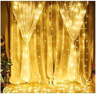 ستارة نافذة سلسلة ضوء 300 ليد ستارة أضواء ليد جليد سلسلة عيد الميلاد الجنية أضواء الزفاف لحفلات الزفاف المنزل حديقة النوم ...