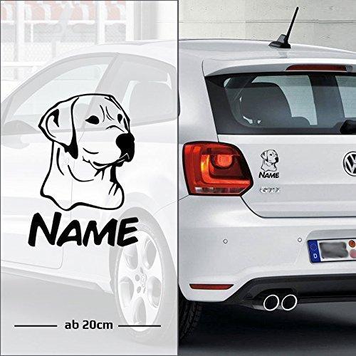 Labrador Retriever | Wunschtext | Name | Auto Aufkleber | Hunde - E