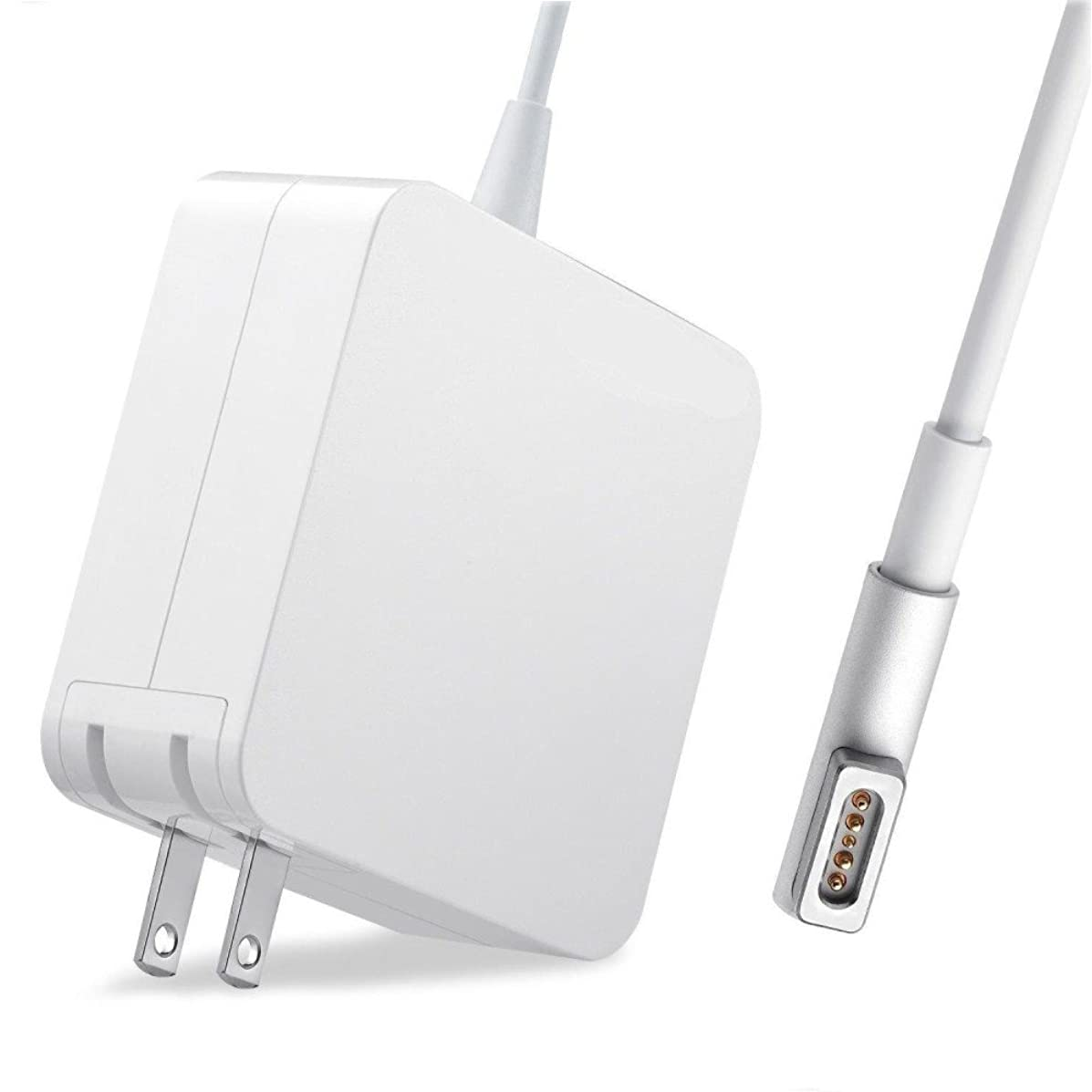 Compatible for MacBook & MacBook Air & MacBook Pro Charger, Compatible with 45W, 60W and 85W, Great Replacement for All Apple Mac Notebook 11 13 15 17inch (Mid 2012) & Before 85W MagSafe 1 L-tip
