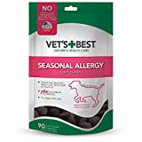 SUPPORTS NORMAL HISTAMINE LEVELS - Vet's Best Seasonal Allergy Soft Chews for Dogs helps support normal histamine levels for seasonal discomfort and proper skin moisture. VET FORMULATED - Veterinarian formulated with natural and other premium quality...