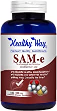 Healthy Way Pure SAM-e 1500mg (per Serving) 180Capsules (S-Adenosyl Methionine) Supports Joint Health and Brain Function