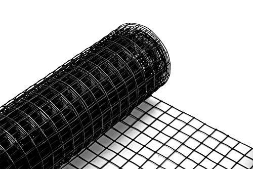 Volierendraht schwarz beschichtet 12,7x1000 mm 10 m Maschendrahtzaun Kükendraht Hasendraht