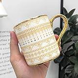 SLW Taza De Cerámica Creativa Taza De Café Vajilla De Cocina Personalizada Patrón Geométrico Taza De Té De Cerámica Decoración del Hogar Nórdico Mosaico