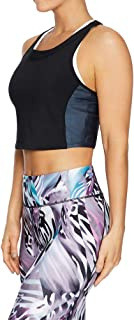 Rockwear Activewear Women's Kaleidoscope Colour Block Crop Black 6 from Size 4-18 for Singlets Tops
