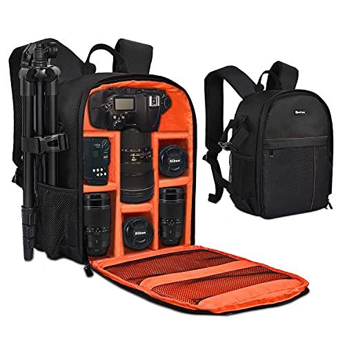 Yesker Camera Backpack Professional DSLR/SLR Camera Bag Waterproof Shockproof, Camera Case Compatible for Sony Canon Nikon Camera and Lens Tripod...