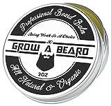 Grow A Beard Balm For Men Moisturizer 2oz | Leave-in Beard Conditioner & Hair Softener | Beard Butter & Mustache Grooming Great For Smooth & Styling | Organic Beard Wax With Argan & Jojoba Oils.