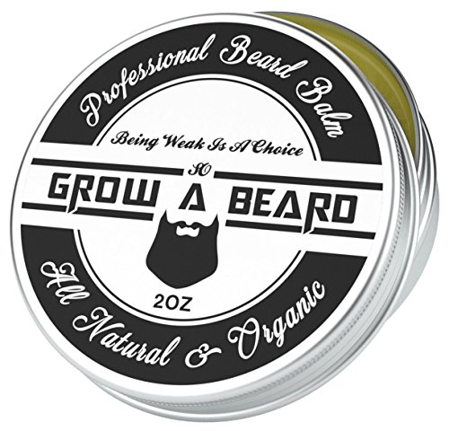 Beard Balm 2oz   Leave-in Conditioner & Softener for Men Care   Best Facial Hair & Mustache Grooming Wax   Great for Smooth & Moisturize   Natural & Organic, Sandalwood Scent with Argan & Jojoba Oils