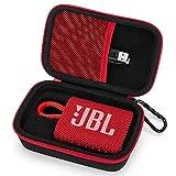 Estuche Funda para JBL GO 3 Altavoz Inalámbrico Portátil con Bluetooth,Bolso de Protección para Altavoces Caja Cubrir para Transporte Rígida (Red)