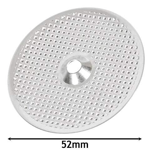 Spares2go - Filtro redondo para cafetera espresso Zanussi ZCOF636X ZCOF637X (52 mm)