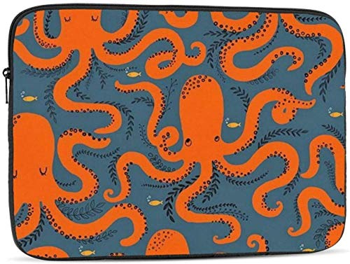 Red Ink Fish Laptop Sleeve Bag - Evecase 15 Inch Neoprene Universal Sleeve Zipper Sleeve Cover Case for Notebook