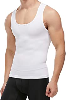 Mens Slimming Body Shaper Compression Tank Top Vest Shirt Abs Shapewear