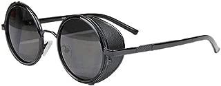 LODDD Women Fashion Round Frame Glasses Cyber Goggles Steampunk Sunglasses Vintage Retro
