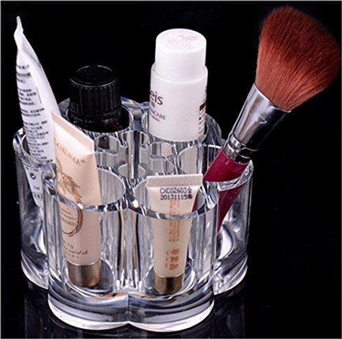 LHWY - Custodia porta trucchi a forma di fiore di susino, in acrilico trasparente, per contenere pennelli, rossetti e altri cosmetici