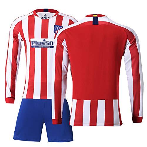 # 7 Griezmann Auswärtstrikot # 9 F. Torres Fußball Uniform Set,19-20 Club Langarm Shorts Training Wettkampfanzug für Herren Kind Geschenk 1coat Shorts Redwhite-S