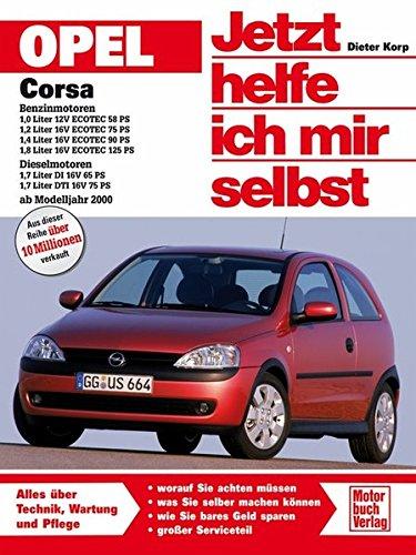 Opel Corsa C Benzin-und Dieselmotoren ab Modelljahr 2000: Benzinmotoren: 1,0 Liter 12V, ECOTEC 58 PS; 1,2 Liter 16V, ECOTEC 75 PS; 1,4 Liter 16V, ... DTI 16V 75 PS (Jetzt helfe ich mir selbst)