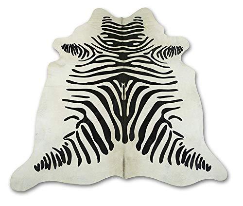 Zerimar Kuhfell Teppich | Farbe: Zebra-Imitation | Massnahmen: 200x190 cm 3.00 m² | Teppich für...